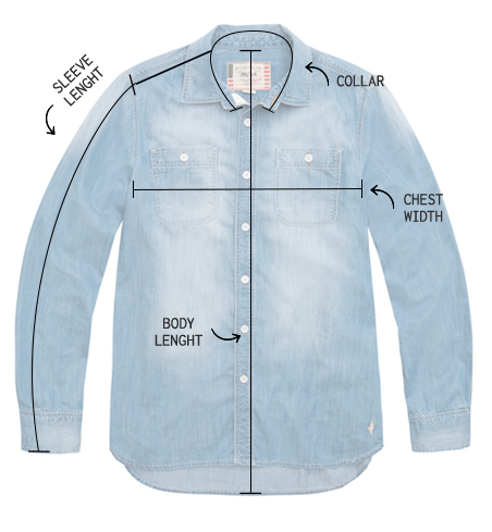 Μεγεθολόγιο πουκαμίσων